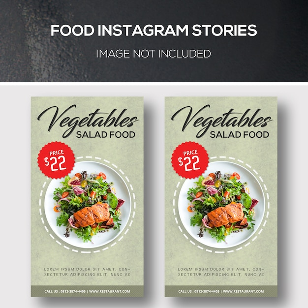 Food instagram stories Psd Premium
