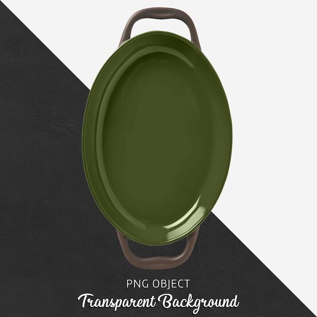 Forno de cerâmica verde em fundo transparente Psd Premium