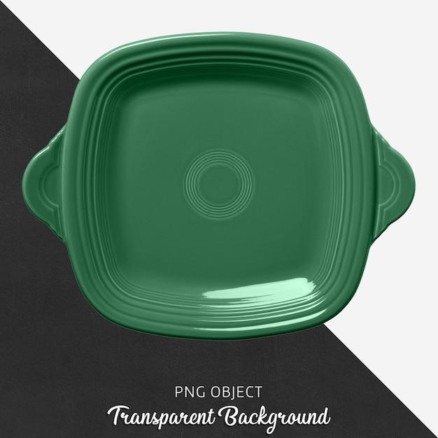 Forno quadrado verde no fundo transparente Psd Premium