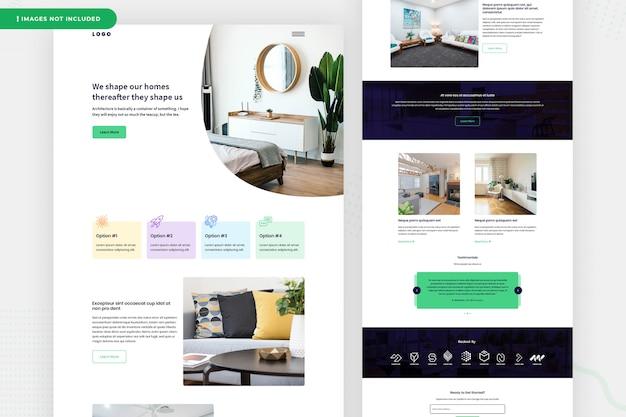 Freelancing design da página do site Psd Premium
