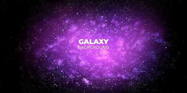 Fundo abstrato da galáxia Psd grátis