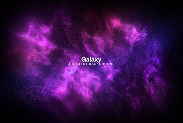 Fundo abstrato de galáxia roxo Psd grátis