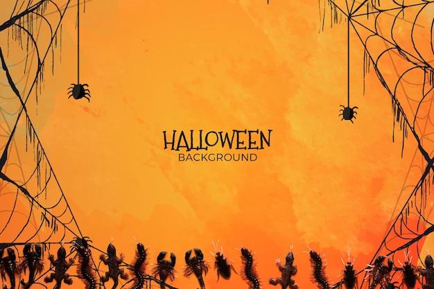 Fundo com conceito de halloween Psd grátis