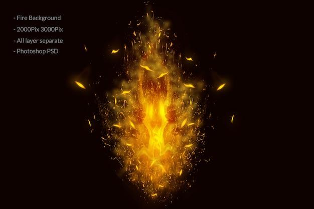 Fundo de chamas de fogo Psd Premium