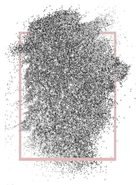Fundo de glitter prata Psd grátis
