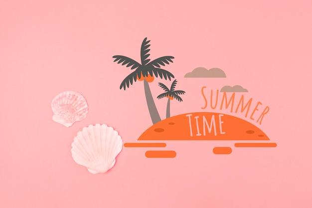 Fundo de verão em coral vivo Psd grátis