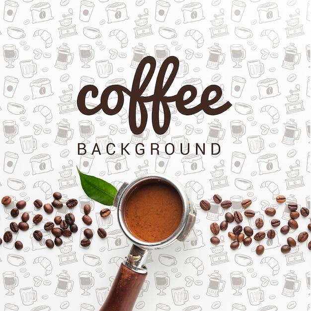 Fundo simples com café Psd grátis