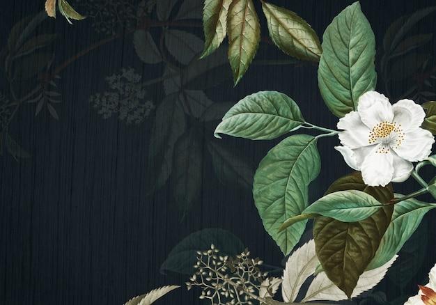 Fundo verde floral Psd grátis