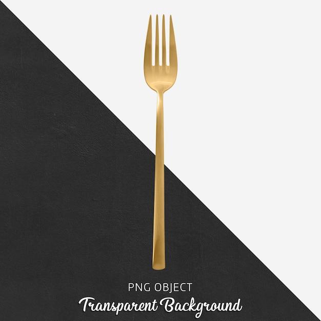 Garfo de jantar de ouro transparente Psd Premium