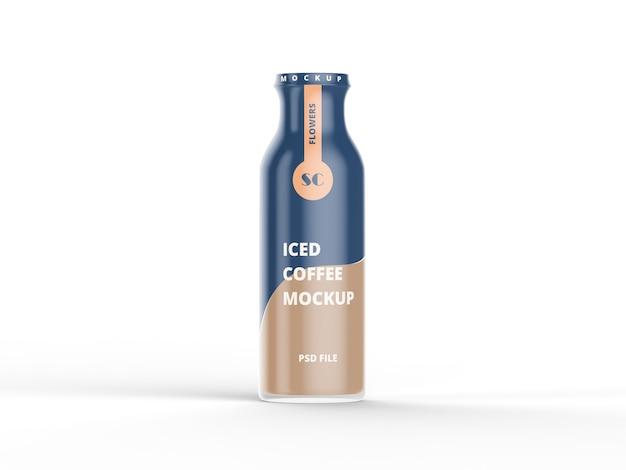 Garrafa de plástico com maquete de café de fermentação fria Psd Premium
