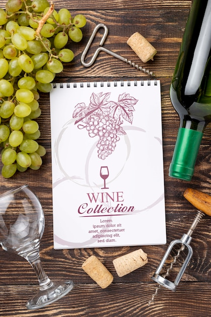 Garrafa de vinho Psd grátis