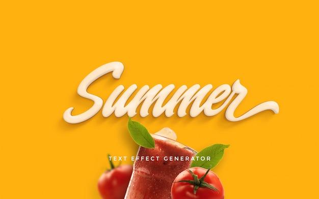 Gerador de efeito de texto de verão Psd Premium