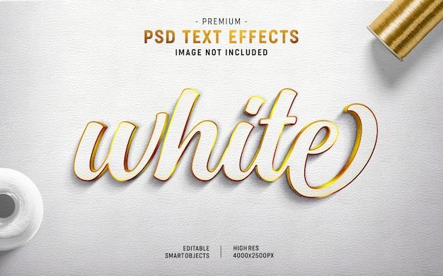Gerador de efeitos de texto em branco Psd Premium