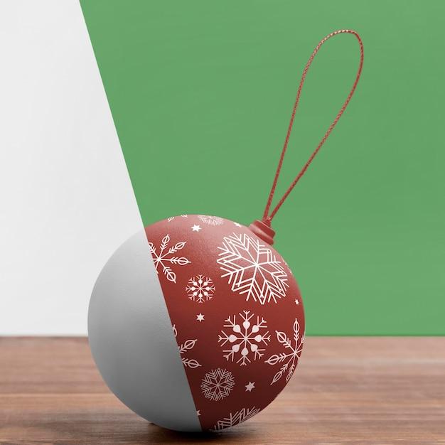 Globo de natal com flocos de neve Psd grátis
