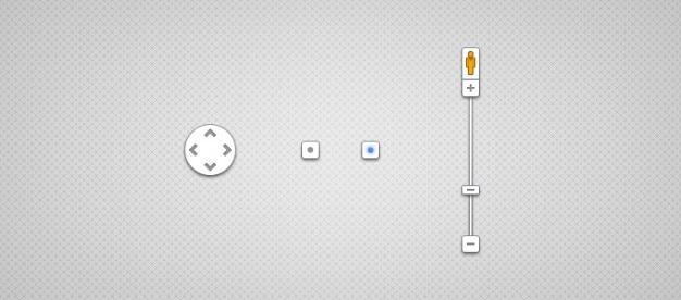 Google maps controles Psd grátis