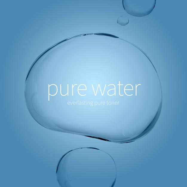 Gotas de água transparente Psd Premium