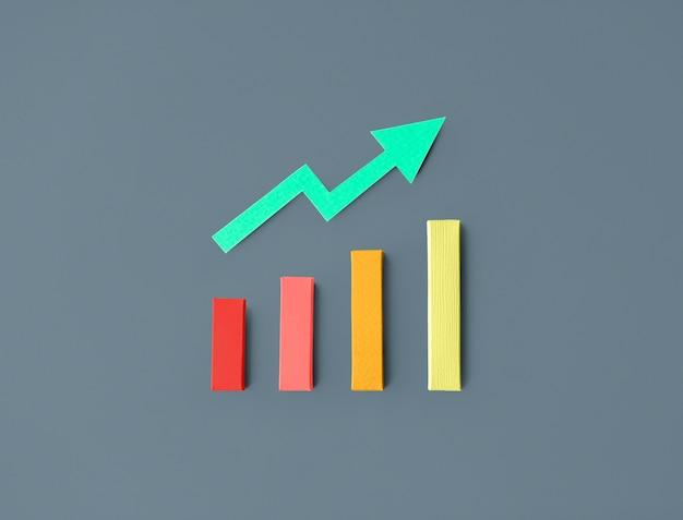 Gráfico de barras de estatísticas de negócios Psd grátis