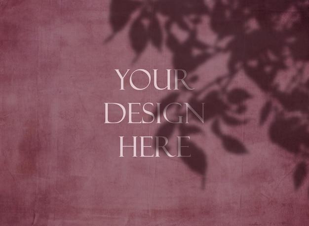Grunge editável simulado acima com fundo de sobreposição de sombra floral Psd grátis