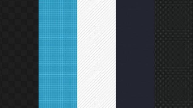 Grupo de padrões web Psd grátis