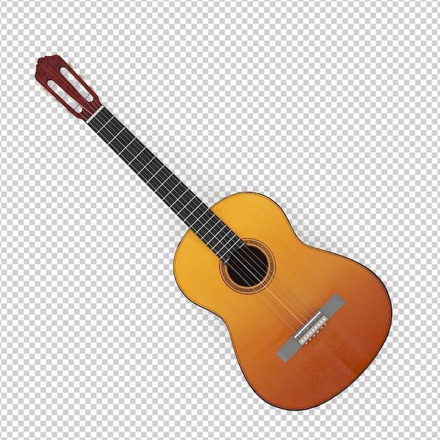 Guitarra isométrica Psd Premium