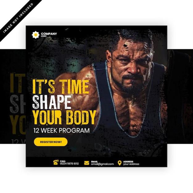 Gym post Psd Premium