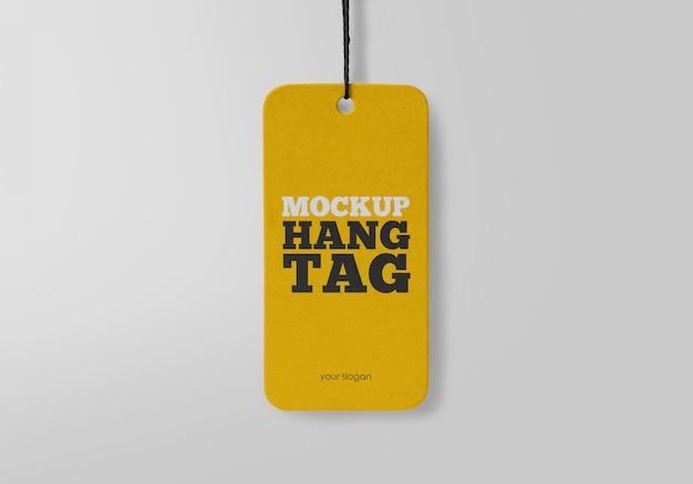 Hang tag mockup Psd Premium
