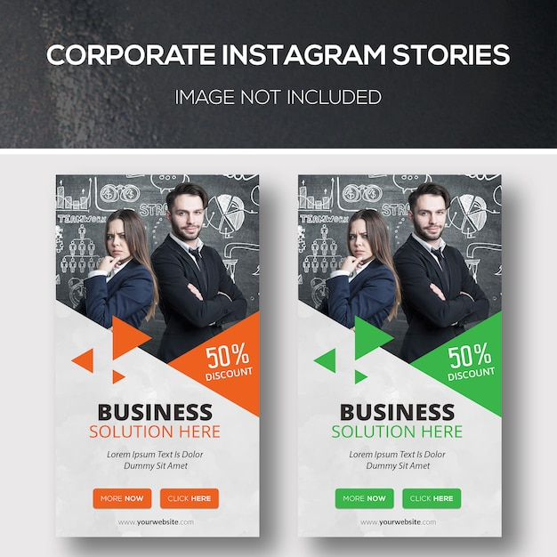 Histórias corporativas do instagram Psd Premium