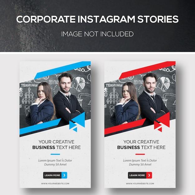 Histórias corporativas do instagram Psd Premium