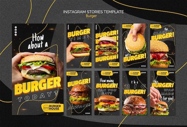 Histórias de hambúrguer no instagram Psd grátis
