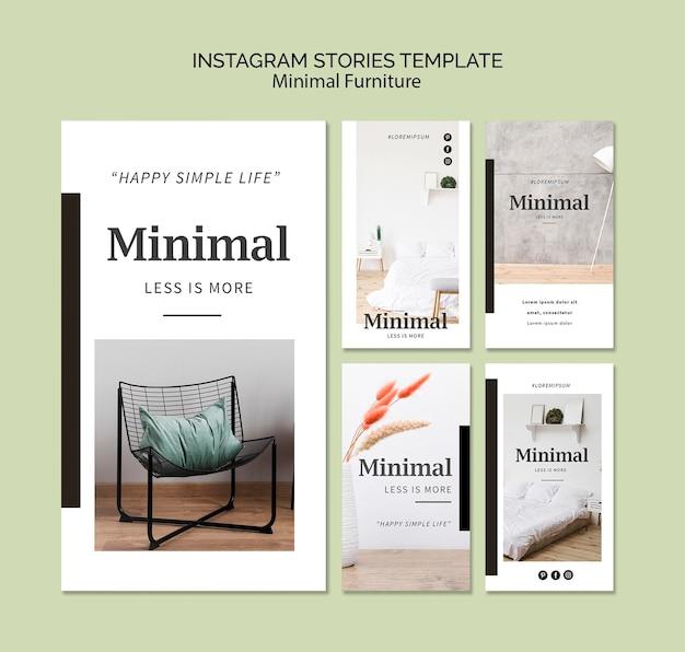 Histórias de instagram de interiores mínimos Psd grátis