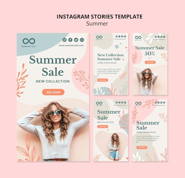 Histórias de instagram de venda de verão Psd Premium