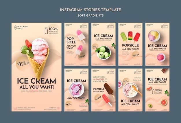 Histórias de mídia social de sorvete suave Psd grátis