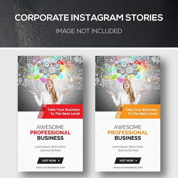 Histórias do instagram corporativo Psd Premium