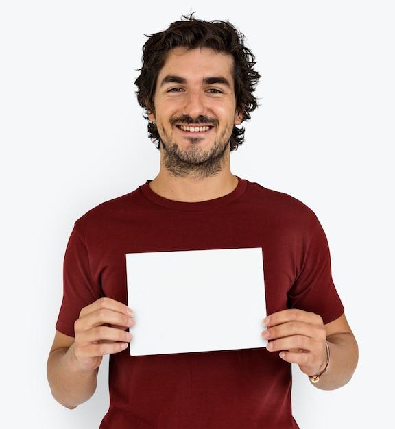 Homem, alegremente, sorrindo, retrato, conceito Psd grátis