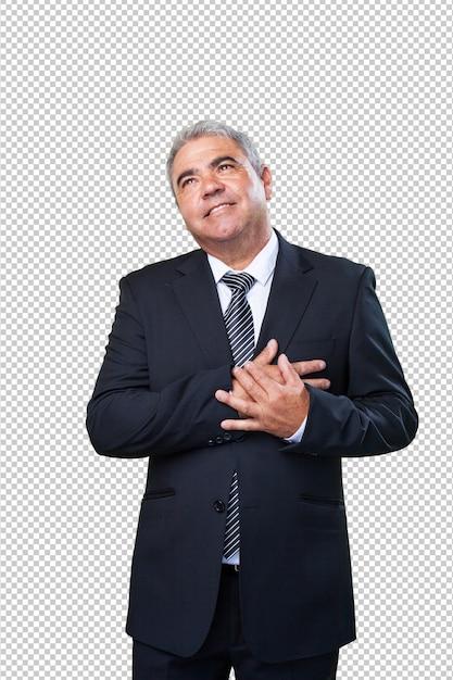 Homem de negócios apaixonado Psd Premium