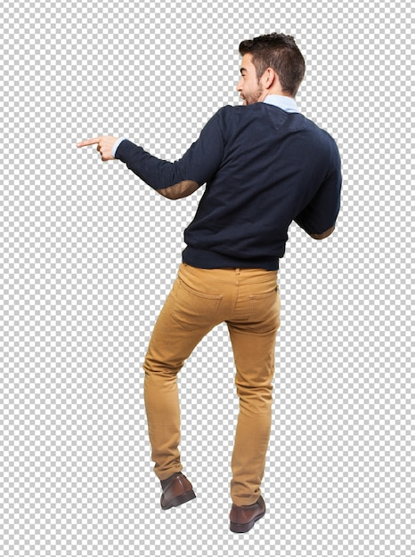 Homem elegante, corpo cheio, dançar Psd Premium