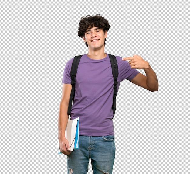 Homem jovem estudante orgulhoso e auto-satisfeito Psd Premium