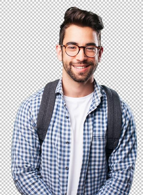 Homem jovem, sorrindo Psd Premium