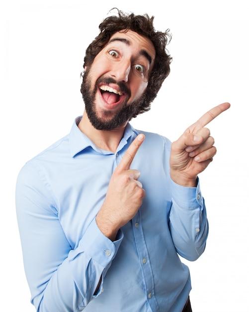 Homem que ri Psd grátis