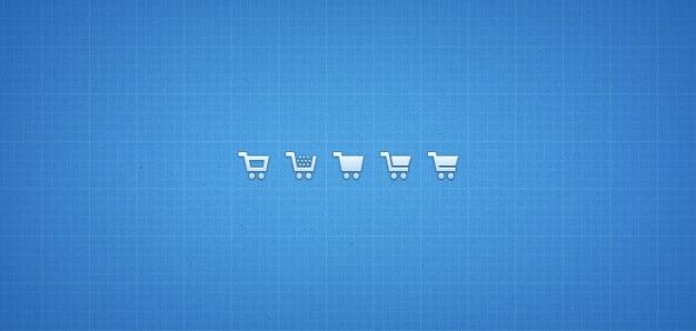 Ícones do carrinho de compras psd png Psd grátis