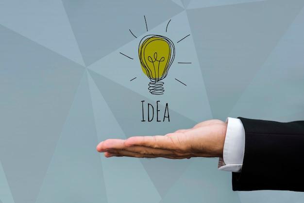 Ideia com inovação de marketing de lâmpada Psd grátis