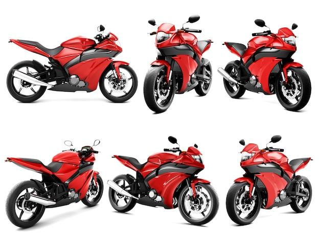 Imagem tridimensional de moto Psd Premium