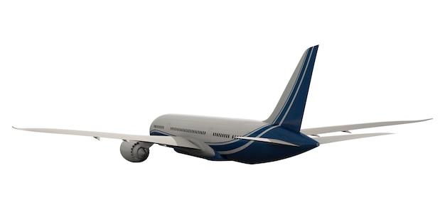 Imagem tridimensional de um avião Psd Premium