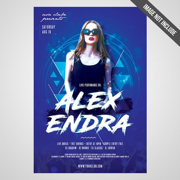 Imprimir pronto flyer evento do artista cmyk / poster com objetos editáveis Psd Premium