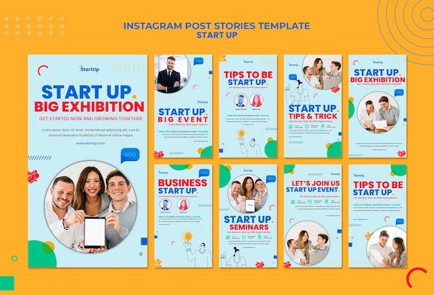 Inicie a coleção de histórias do instagram Psd grátis