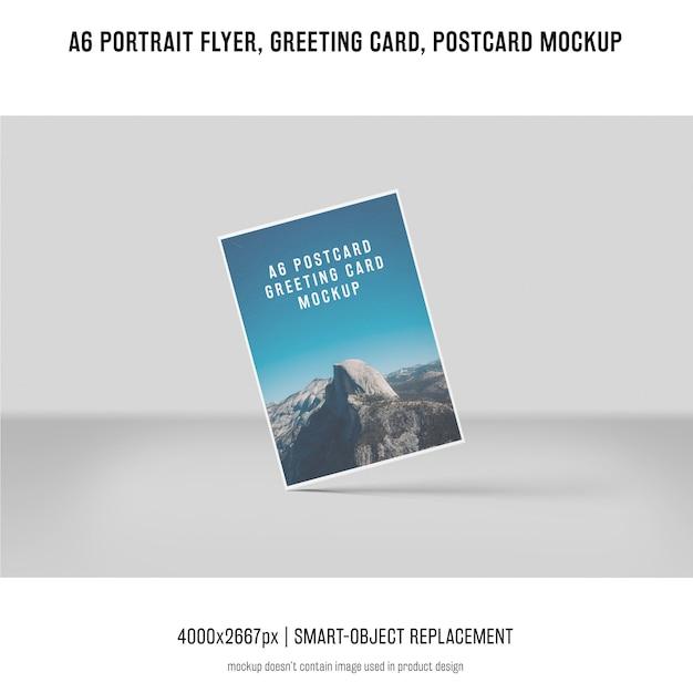 Insecto do retrato, cartão, maquete do cartão Psd grátis