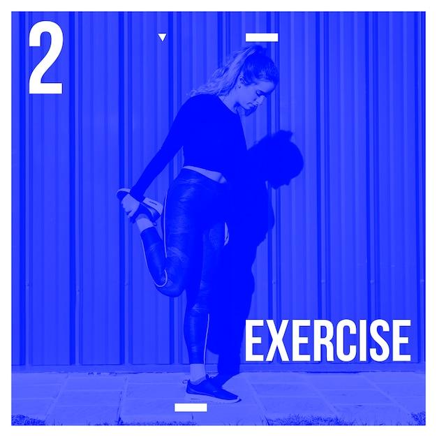 Instagram post fundo com conceito de exercício Psd grátis