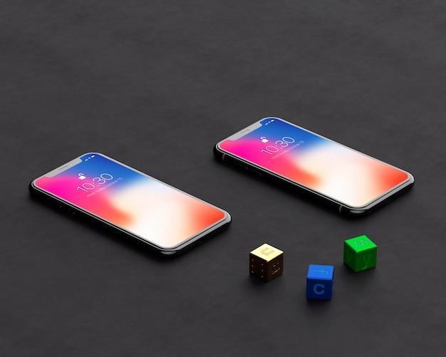 Iphone x mockup Psd Premium