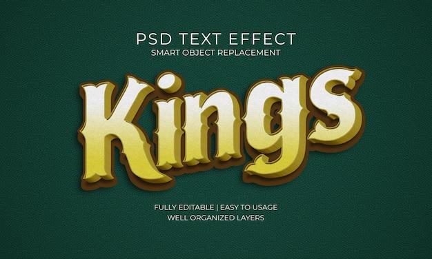 Kings text effect Psd Premium