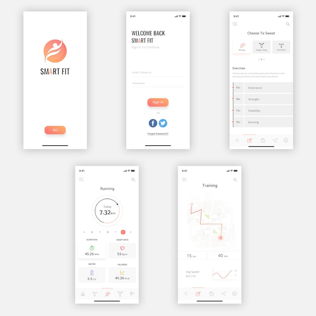 Kit de ui móvel inteligente Psd Premium